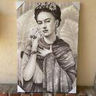"Frida Kahlo Self Portrait 24""x36"" Monochromatic Print Canvas Nice Wall Art New"