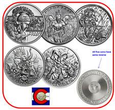 Intaglio Mint - Spartan Molon Labe  - Set of 5 Silver 1 oz Rounds - in capsules
