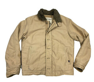Vtg Abercrombie & Fitch Military Heavy Quilt Lined Coat/Jacket Medium Surplus