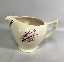 Mid Century Flair English China Louis Gordon Production Creamer Pink Black 1950s