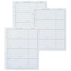 Hallmark Address Book Refill Pages