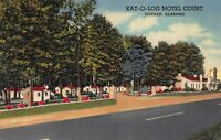 Linen Postcard Kat-O-Log Motel Court in Dothan, Alabama~117673