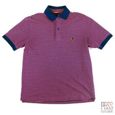 Tommy Hilfiger Mens S Short Sleeve Cotton Polo Shirt Striped Pink