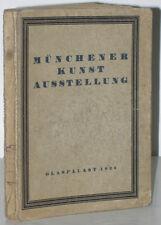 Münchener Jahres-Ausstellung Glaspalast 1923 Ofizieller Katalog