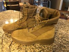 New ListingExcellent Men's Hot Weather Army Combat Boot Vibram Sole Brown / Tan Coyote 7.5