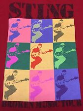 Sting 2005 Broken Music Tour Red 2-sided T-Shirt Concert Rock Roxy Los Angeles