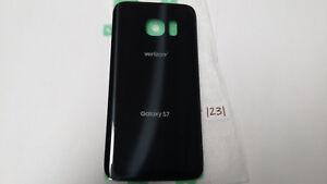 Galaxy S7 Back Battery Cover Black Adhesive Glass Verizon (Lot of 5)