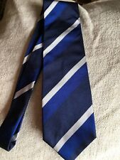 Paul & Shark Yachting Hand Made 100% Pure Italian Silk Blue & White Stripes