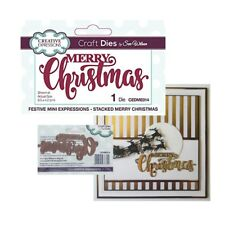 Stacked Merry Christmas Metal Die Cut Stencil Creative Expressions Dies CEDME014