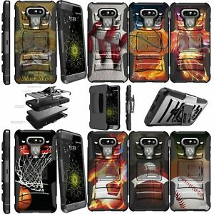 For LG G6 H870 2017 Double Layer+Kickstand Holster Clip Case Sports & Galaxy