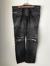 Balmain Black Slim Fit Biker Jeans Size 32
