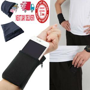Wrist Wallet Pouch Bag Band Zipper Running Travel Gym Running Sports Pocket Bags