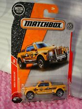2018 Matchbox EMERGENCY RESCUE 4X4 #82☆orange/gray;FIRE☆MBX RESCUE☆65th☆case G