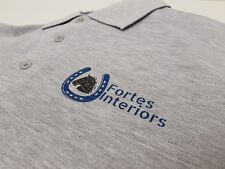 Personalised Polo Shirt Full Color Text Logo Print Work Uniform Workwear Company