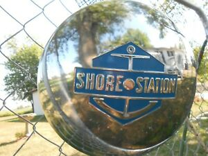 "SHORE STATION 9"" Boat Trailer Hub Cap Dog Dish Hubcap Wheel Cover"