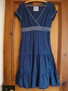 FAT FACE.  BLUE COTTON LINED DRESS.  SIZE 10