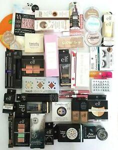 Huge Lot of 50 Asst Makeup Lot Bronzers Primers Mascara's & More ELF Creme Shop+