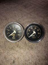 2 Vintage Mechanical Tachometer Gauges With Engine Hours Mack 820187 818067