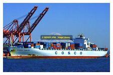 ap1082 - Container Ship - Cosco Tianjin , built 2005 - photo 6x4