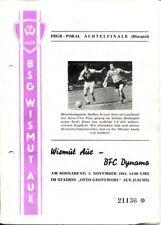 Programmheft Wismut Aue - BFC Dynamo FDGB-Pokal Achtelfinale 1984 /146