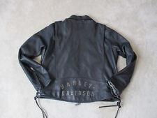 Harley Davidson Leather Jacket Adult Extra Large Black Biker Motorcycle Mens
