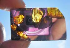 GLOWING OLIVINE - 12.67 gram FUKANG Meteorite pallasite -TRANSLUCENT