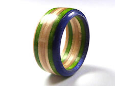 RECYCLED SKATEBOARD Wooden Rings Handmade Jewellery Unusual Unique Cool Gifts