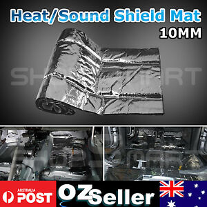 10mm Car Underfelt Door Heat Insulation Sound Deadener Noise Proofing 1M x 3M