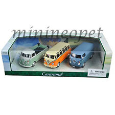 CARARAMA 35308 VW VOLKSWAGEN SAMBA BUS VAN T1 PICK UP 1/43 DIECAST 3 CARS SET