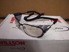 LT. Tint Black Willson Stellar High Impact Safety Glasses ANSI Z87 + Side Strap