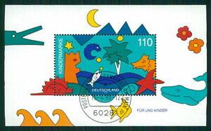 GERMANY M/S S/S 1998 ANIMALS DINOSAURS FISH WHALE CROCODILE STARFISH fa85