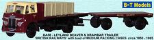 B-T modelli DA56 BR LEYLAND BEAVER Rimorchio & Crate carico 1/76 scala/OO Gauge T48