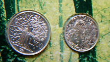 1991 Italy 200£/500£ TWO silver coins  Flora e Fauna Wolf UNC in official folder