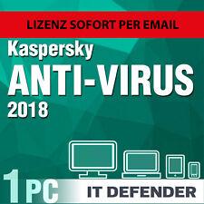 Kaspersky Antivirus Security 2018 1 PC 1 Jahre / Gerät 1 , Anti-virus , internet