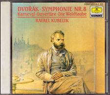 Rafael Kubelik: Dvorak Symphony No. 8 Carnival Overture the Wood Dove sei DG PDO CD