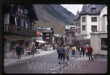 1968 kodachrome photo slide street scene   Zermatt Switzerland