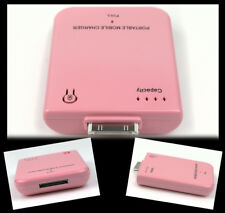 2800MAH PORTABLE EXTERNAL PINK BATTERY CHARGER 30-PIN IPHONE 4S 4 3GS IPOD NANO
