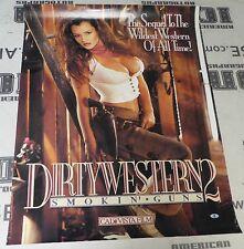 Lisa Ann Signed Original 1994 Dirty Western 2 Porn Movie Poster BAS Beckett COA