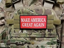 """Jumbo Make America Great Again Trump Red 3X6"""" Morale Patch for Plate Carrier"""