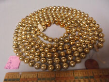 "Christmas Garland Mercury Glass Antique Gold 86"" Long 3/8"" Beads 3718 Vintage"