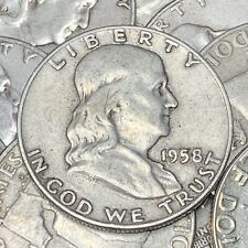 Franklin Half Dollars 90% Silver Coin Lot Circulated Choose How Many