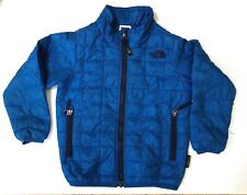 THE NORTH FACE POLYESTER TODDLER BAMBIN ZIP POCKET BLUE JACKET SIZE 4T/4B