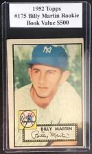 (HCW) 1952 Topps Red Back #175 Billy Martin RC Rookie Vintage Baseball - BV $500