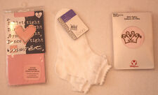 NWT Girls NORDSTROM Pink/White Socks & Tights SMALL