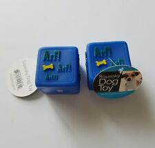 New listing Vinyl Squeaky Dog Che 00004000 w Toys Blue Cube Toy Rubber Squeak New Fun Plastic Set of 2