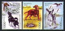 Belarus 2010 Spaniel/Irish Setter/Hunting Dogs/Nature/Animals 3v set (n32052)