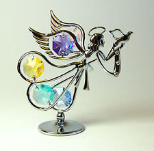 Crystocraft 8,5 Cm Flying Angel Adorno Con Cristales Swarovski