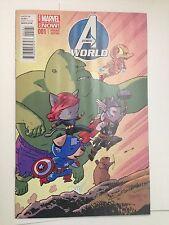 AVENGERS WORLD #1 Marvel Now!  SAMNEE ANIMAL VARIANT 1:25 NM - Marvel Comics