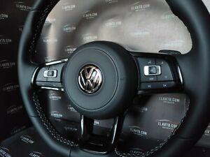 Genuine Brand NEW VW Volkswagen Steering Wheel Triple Black Golf 7 R-Line