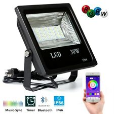 30W Smart Flood Light Bluetooth RGB LED Waterproof Security 16+million colours